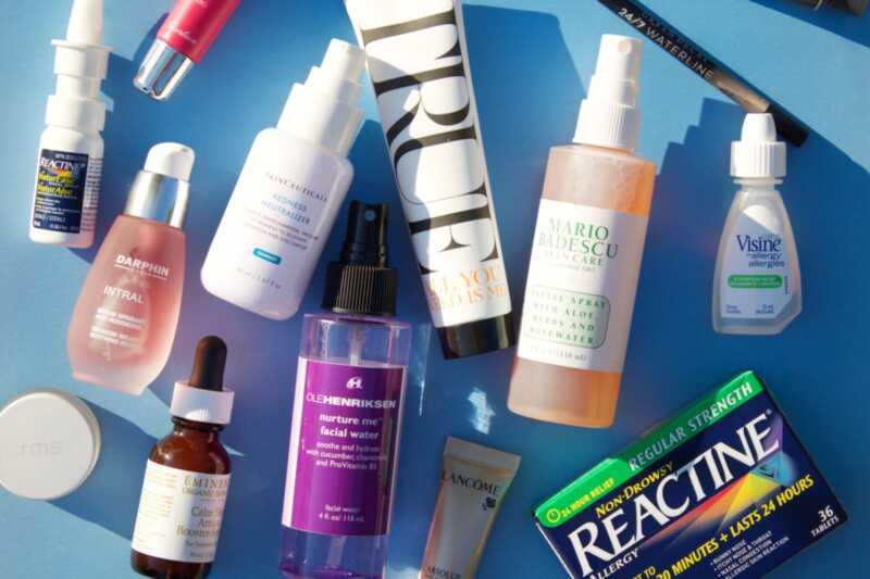 Lepotni izdelki za alergijsko sezono: ličila in nego kože