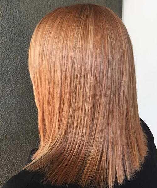 rose gold hårfarve