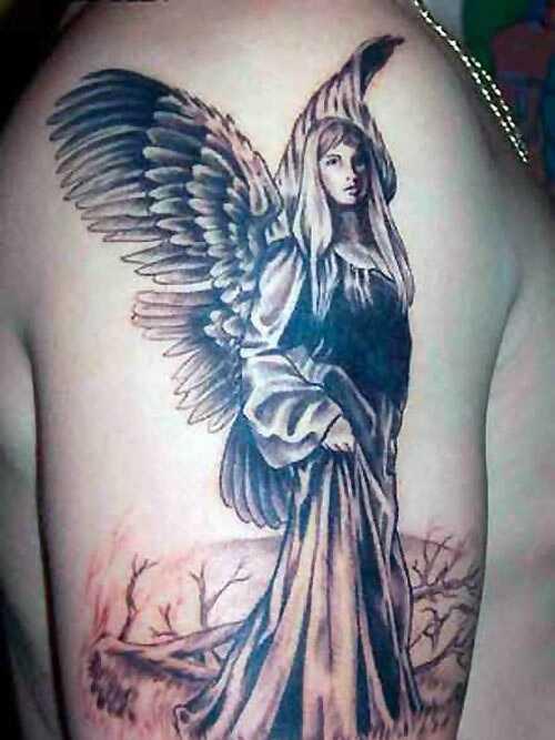 10 tetovanie svätého ANGEL