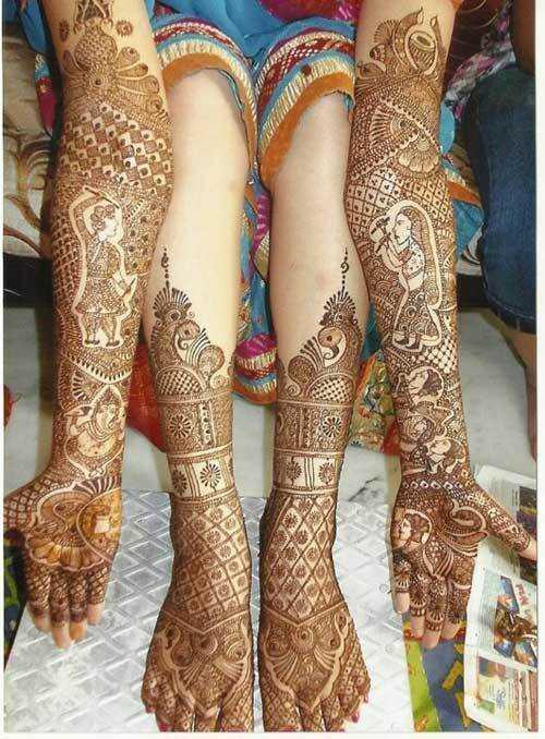 Najlepšie dizajny nohy Mehandi - náš top 10