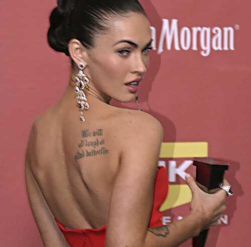 8 labākās Megan Fox tetovējumu dizainu