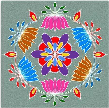 Najlepšie dizajny Pongal Rangoli - naše top 10