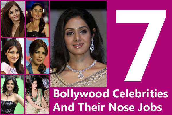 7 perfecte Bollywood Celebrity Nose Jobs die veranderingen veranderden
