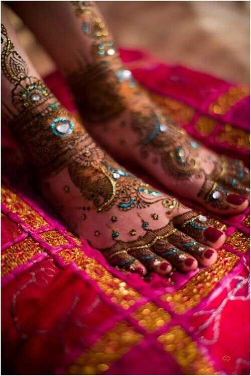 7 colori colorati Henna e Mehndi