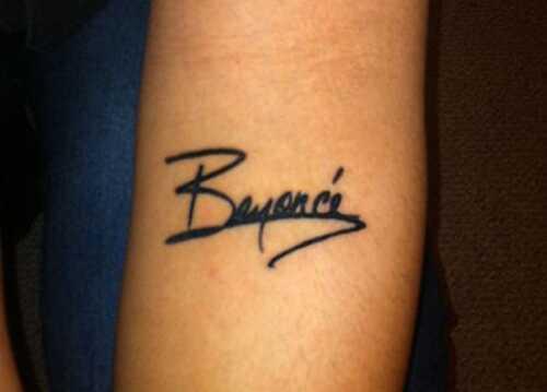 8 Beyonce tetovanie, ktoré môžete skúsiť príliš