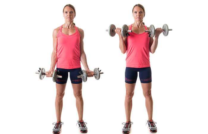 Top 15 Bicepsi harjutused naistele ja nende eelised