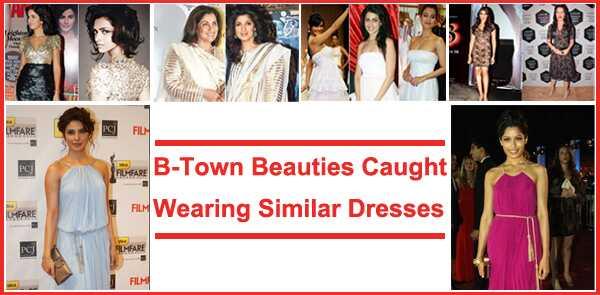 8 Bellezas De Bollywood Atrapados Usando Vestidos Similares