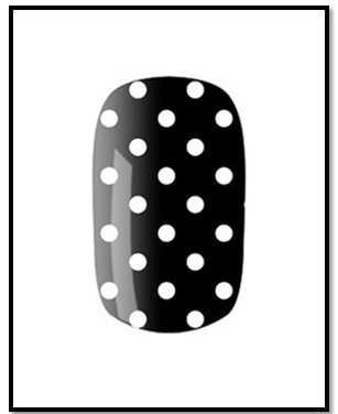 8 čiernych a bielych nechtových výtvarných návrhov s obrázkami a tipmi pre štýl