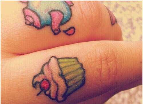 10 Angelic Cupcakes tetovanie vzory