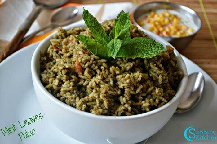 10 lahodných receptov Pudina Rice by ste sa mali pokúsiť