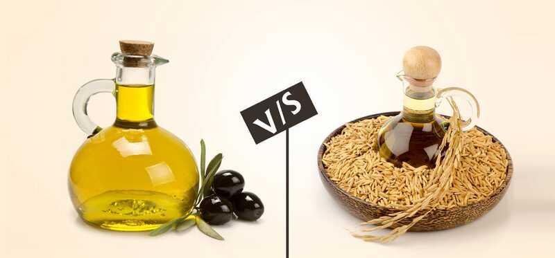 7 forskelle mellem risbranolie og olivenolie