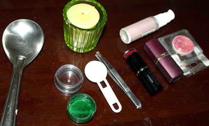 DIY - fantastisk måde at gøre creme rødme hjemme med læbestifter