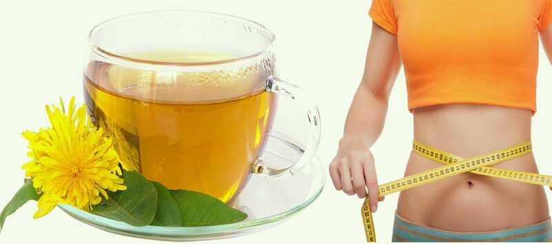 3 efektívne výhody čaju púpavy pre stratu hmotnosti