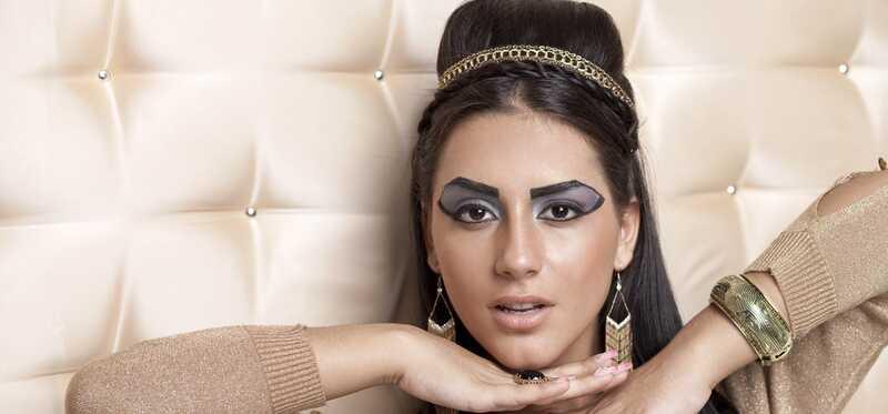 Egyptské make-up, krásu a fitness tajomstvo odhalenie