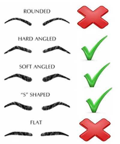 3 perfekte øjenbryn Form ideer til runde ansigtsformer