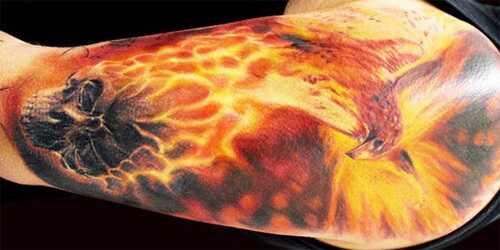 Top 15 dizajn oheň tetovanie
