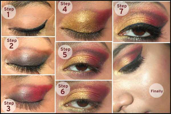 Gorgeous Gujarati brude makeup - tutorial trin For trin med billeder