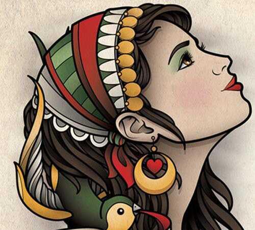 10 Atraktívne cigánske tetovanie