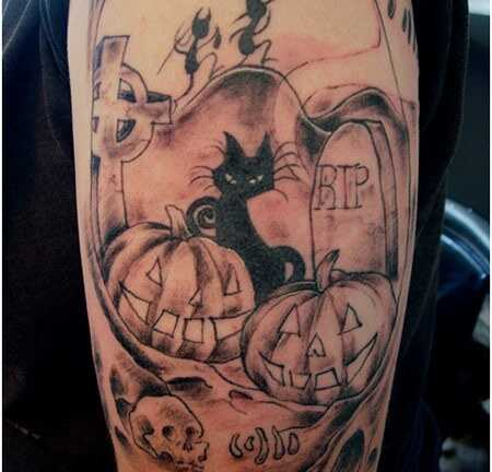 Top 10 dizajn Halloween tetovanie