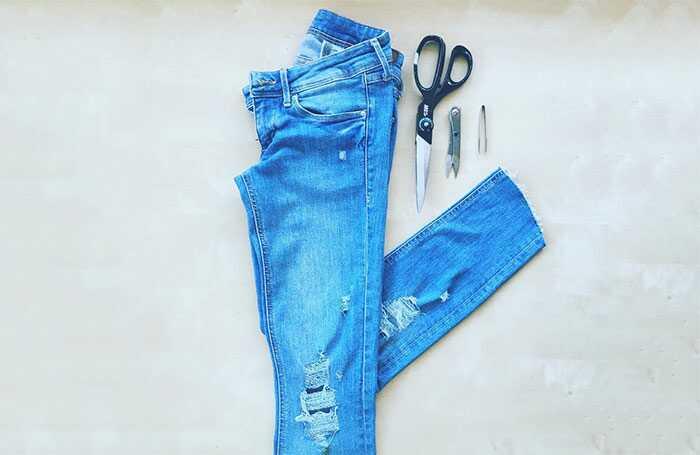Ako urobiť Ripped - Distressed Jeans DIY