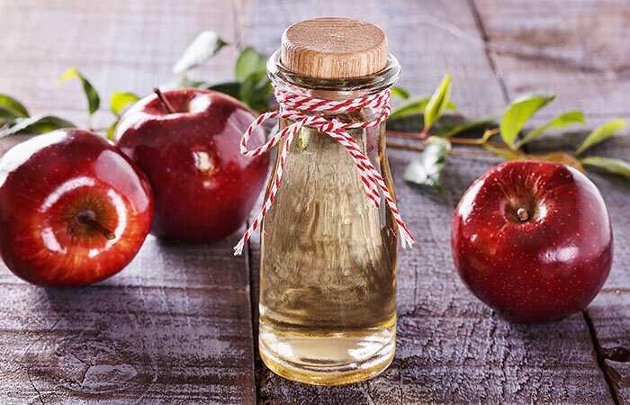Sådan bruger du æblecidereddike til at hærde skæl