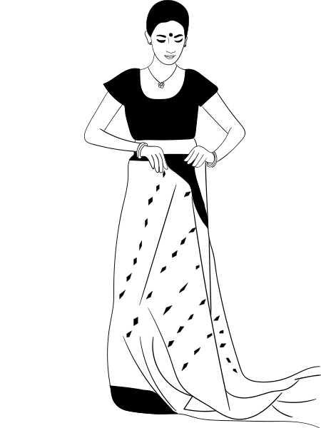 Ako nosiť Saree v bengálskom štýle - krok za krokom tutorial