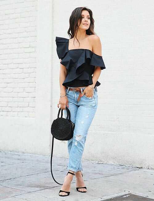 Ako nosiť priateľské džínsy - nápady na oblečenie