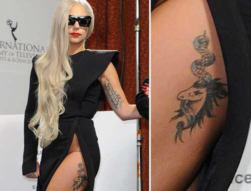 Top 10 tetovanie Lady Gaga