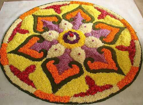 25 värvilisemat Rangoli kujundab Flowersiga