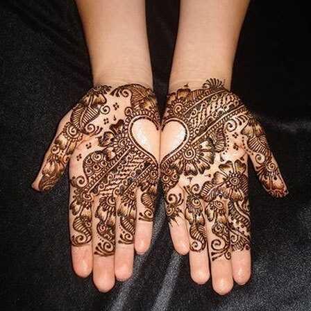10 mest elskede hjerte Henna designs