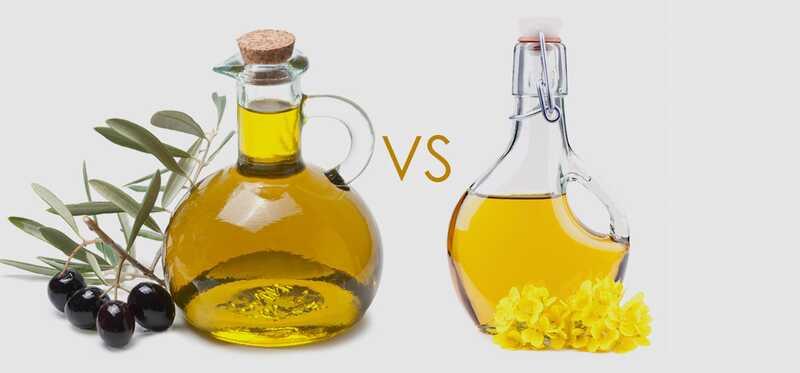 Olivový olej V oleji Canola - čo je lepšie?