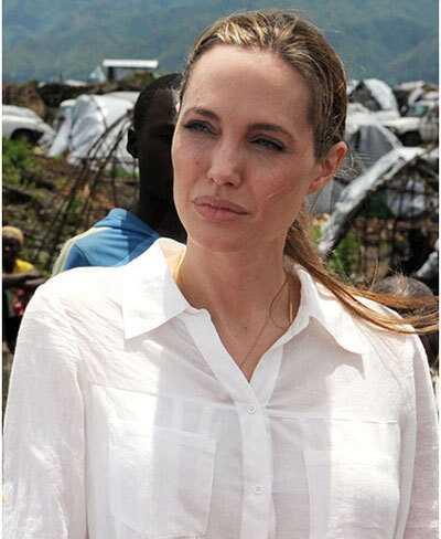 10 billeder af Angelina Jolie uden makeup
