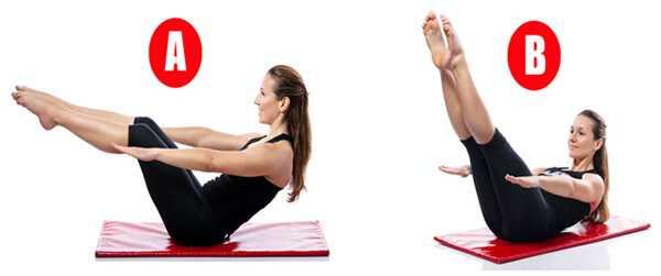 Top 10 Pilates cvičenie pre ploché Abs