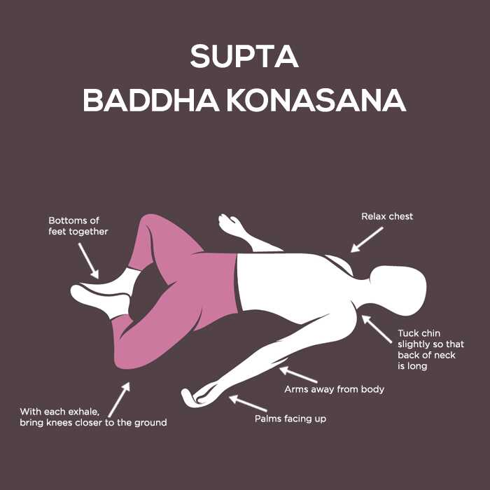 Hoe de Supta Baddha Konasana te doen en wat zijn de voordelen ervan