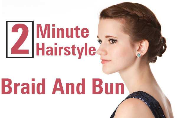 Simpel 2 minutters frisyre: Prinsesse Braid og Bun