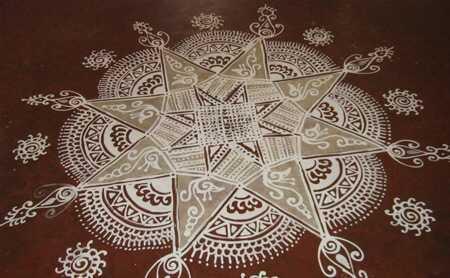 Top 10 sydlige indiske Rangoli designs
