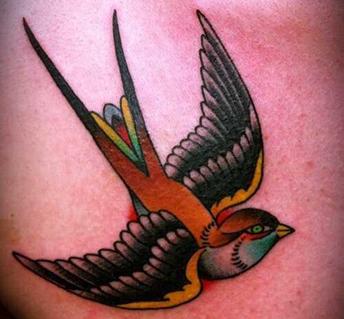 12 Inšpirácia tetovanie vädnutia a vrabca