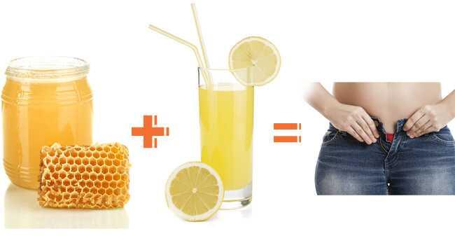 Zostať Trim s medom a citrónom