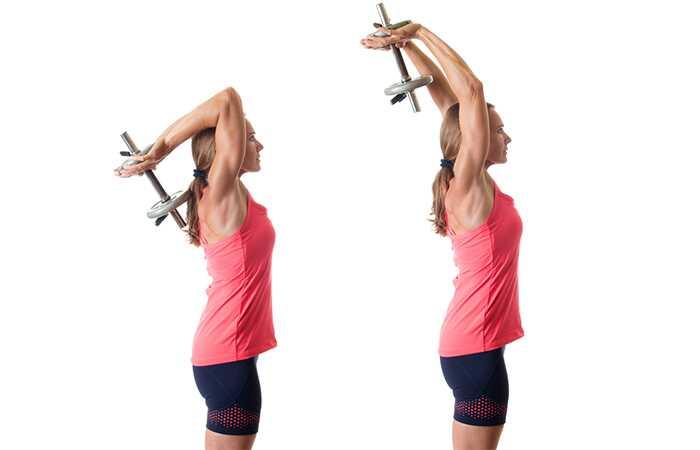 Top 15 triceps cvičenie pre ženy