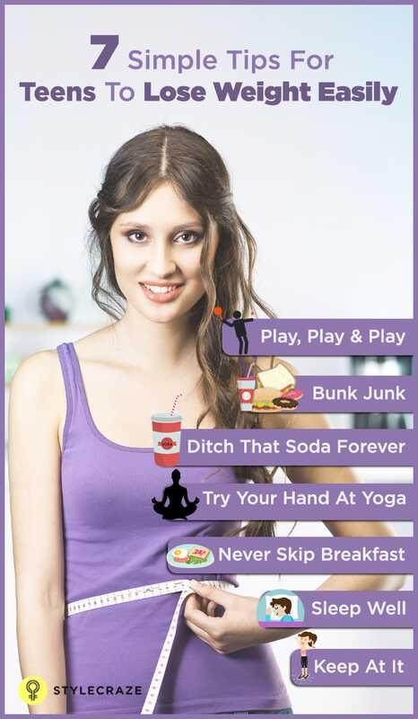 7 Utroligt enkle måder for teenagepiger at tabe sig