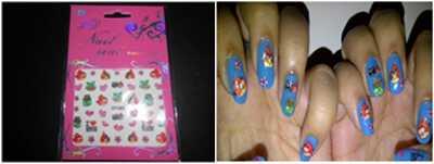 11 vrsta naljepnica za nokte