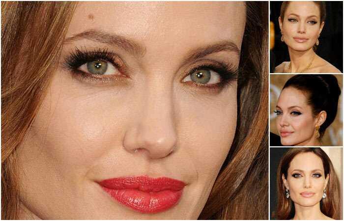 Angelina Jolie makeup očí: krok za krokom tutorial