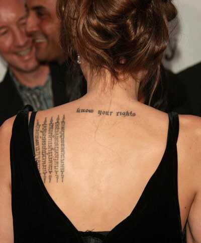 8 Стилски тетоважи на Анџелина Џоли и нивното значење