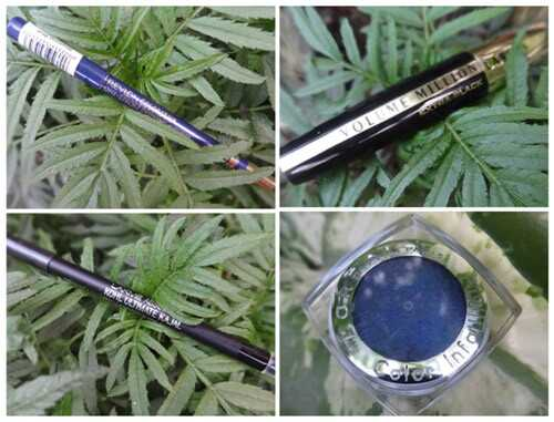 Come applicare l'eyeliner blu?