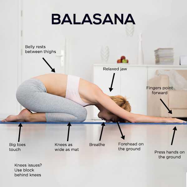 Ako urobiť Balasana a aké sú jej výhody