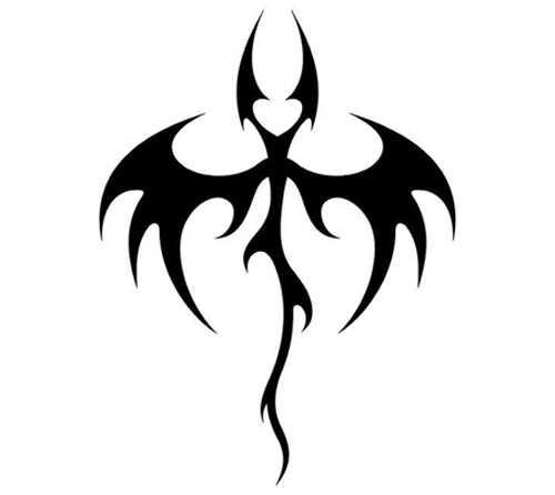Top 10 šikšnosparnių tatuiruotės dizaino