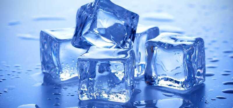 Krása s kockami ľadu