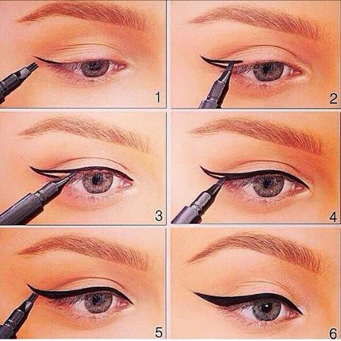 hur gör man eyeliner