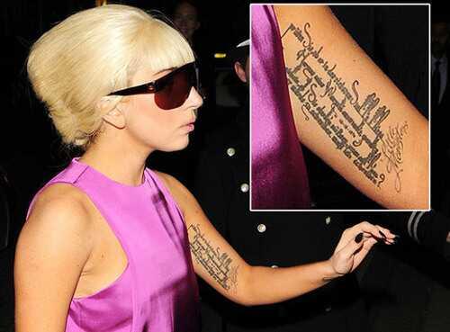 10 Najlepszych Wzorów Tatuażu Lady Gaga Plhair Actioncom